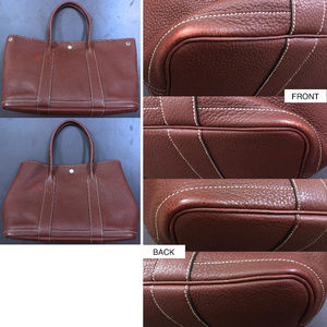 9d280f177075 Hermes Bags - Hermes Red Rouge H Leather Garden Party PM 36 Bag